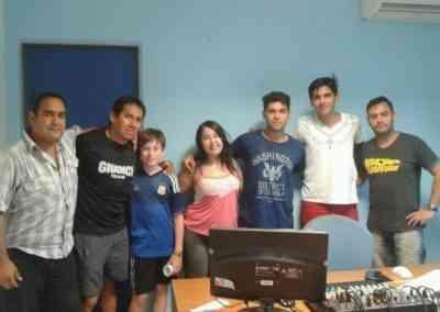 Visita de profes y chicos del programa Andar