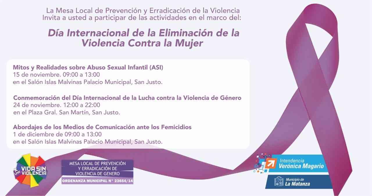 Flyer Jornadas Contra la Violencia de Género 2017