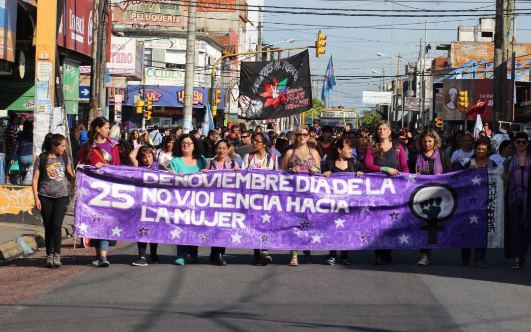 Marcha por el Día Internacional de la Lucha contra la Violencia de Género.